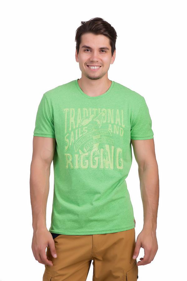 Футболкa Tom TailorФутболки<br>Яркая мужская футболка от бренда Tom Tailor прямого кроя выполнена из хлопковой ткани салатового цвета. Изделие дополнено: круглым воротом и короткими рукавами для середины плеча. Футболка декорирована принтом контрастного желтого цвета с надписями.<br><br>Размер RU: 48-50<br>Пол: Мужской<br>Возраст: Взрослый<br>Материал: хлопок 60%, полиэстер 40%<br>Цвет: Жёлтый