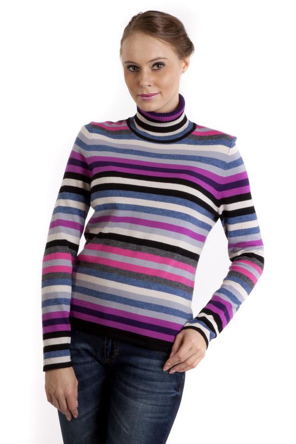 Водолазка PezzoВодолазки<br>Модная женская водолазка в полоску, от бренда Pezzo. Изделие дополнено высоким воротником и длинным рукавом. Водолазка выполнена в розовых, сиреневых и синих тонах. Уникальный материал позволяет чувствовать себя в не максимально комфортно.<br><br>Размер RU: 50<br>Пол: Женский<br>Возраст: Взрослый<br>Материал: вискоза 33%, хлопок 18%, полиамид 23%, шерсть 18%, кашемир 4%, ангора 4%<br>Цвет: Разноцветный