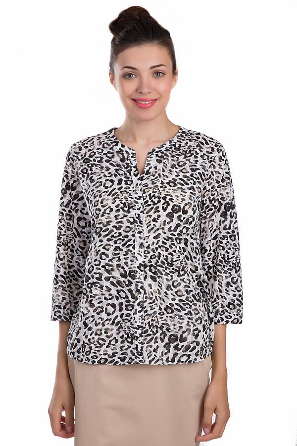Блузa Gerry WeberБлузы<br>Оригинальная женская блуза Gerry Weber черного, белого и бежевого цветов. Данное изделие было выполнено из полиэстера и хлопка. Эта модель предназначена для летнего сезона. Она дополнена черно-белым леопардовым принтом. Застегивается с помощью маленьких белых пуговиц. Рукава у блузы укороченные.<br><br>Размер RU: 44<br>Пол: Женский<br>Возраст: Взрослый<br>Материал: хлопок 40%, полиэстер 60%<br>Цвет: Разноцветный