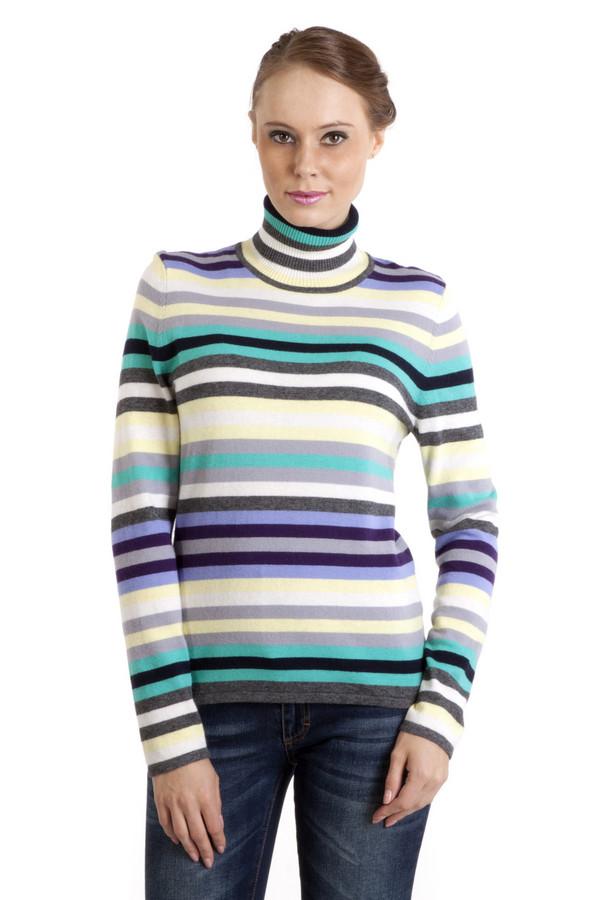 Водолазка PezzoВодолазки<br>Модная женская водолазка в полоску, от бренда Pezzo. Изделие дополнено высоким воротником и длинным рукавом. Водолазка оформлена разноцветными полосками в спокойной цветовой гамме. Уникальный материал позволяет чувствовать себя в не максимально комфортно.<br><br>Размер RU: 48<br>Пол: Женский<br>Возраст: Взрослый<br>Материал: вискоза 33%, хлопок 18%, полиамид 23%, шерсть 18%, кашемир 4%, ангора 4%<br>Цвет: Разноцветный