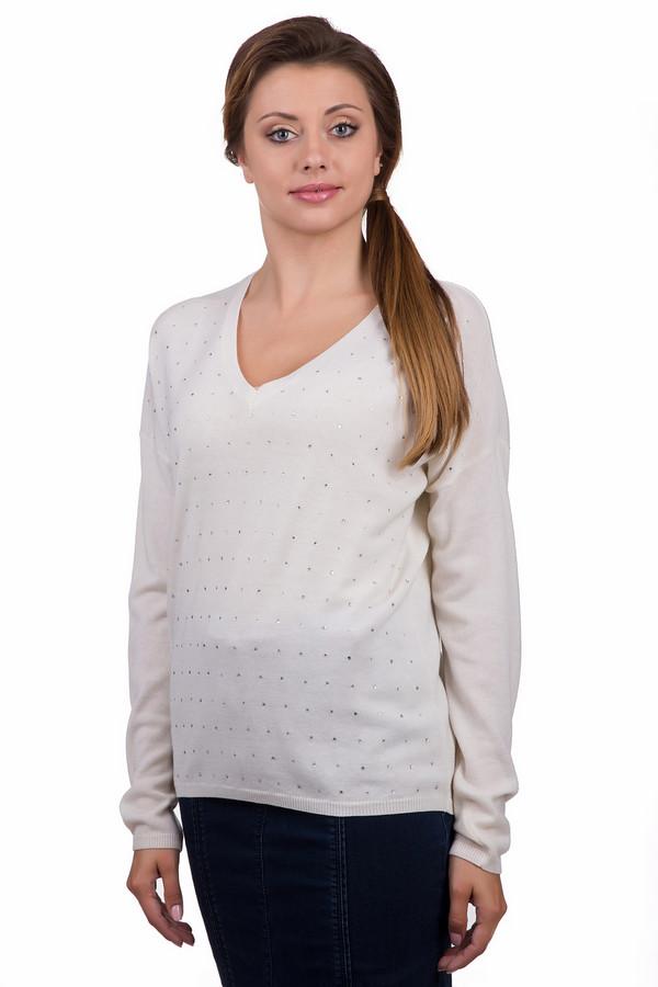 Пуловер Marc AurelПуловеры<br>Стильный женский пуловер Marc Aurel белого и серого цветов. Это изделие было выполнено из кашемира, шерсти и полиэстер. Данная модель предназначена для демисезонного периода. Пуловер свободного кроя. Дополнено серебристыми маленькими камнями и V-образным вырезом. Отличный вариант на каждый день.<br><br>Размер RU: 52<br>Пол: Женский<br>Возраст: Взрослый<br>Материал: кашемир 5%, шерсть 75%, полиэстер 20%<br>Цвет: Серебристый