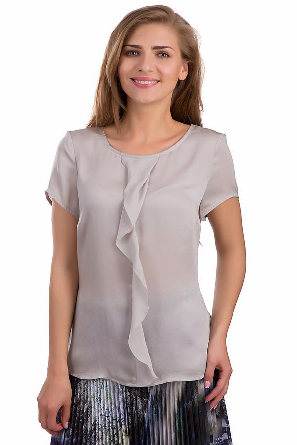 Блузa ApanageБлузы<br>Женственная блуза Apanage серого цвета. Это изделие было выполнено из полиэстера. Данная модель предназначена для летнего сезона. Она дополнена жабо посередине. Рукава у блузы короткие. Изделие свободного кроя. Придаст любому образу женственности и легкости. Сочетается с юбками и брюками.<br><br>Размер RU: 52<br>Пол: Женский<br>Возраст: Взрослый<br>Материал: полиэстер 100%<br>Цвет: Серый