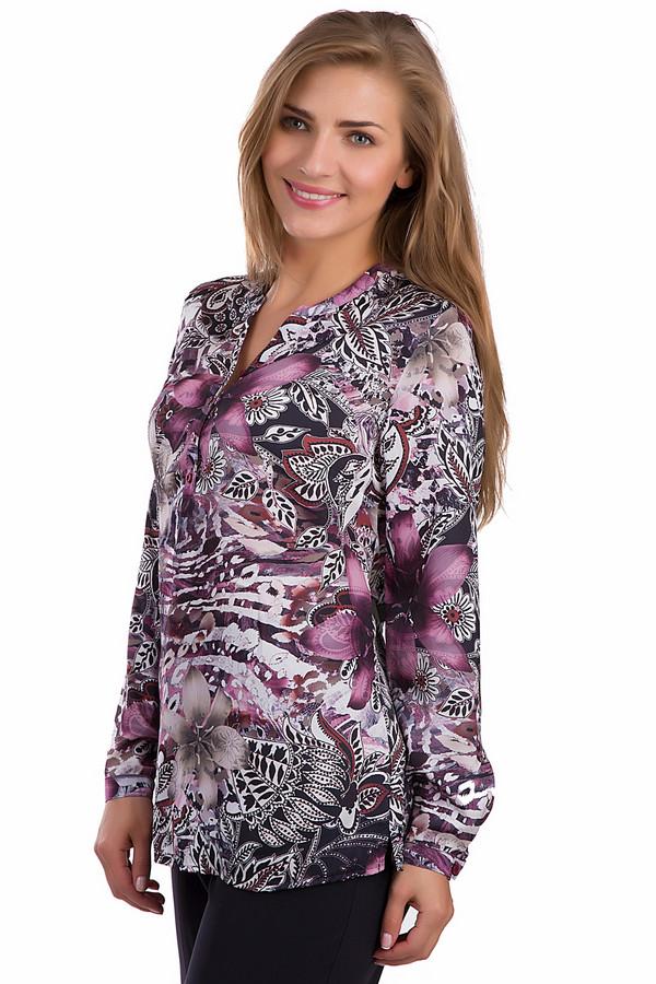 Блузa LebekБлузы<br>Оригинальная женская блуза Lebek белого, розового, фиолетового, бордового и черного цветов. Это изделие было выполнено из полиэстера. Данная модель является демисезонной. Дополнена крупным цветочным рисунком. Застегивается с помощью маленьких черных пуговиц. Эта блузка свободного кроя. Хорошо сочетается с одеждой разных стилей, цветов и фактур.<br><br>Размер RU: 50<br>Пол: Женский<br>Возраст: Взрослый<br>Материал: полиэстер 100%<br>Цвет: Разноцветный