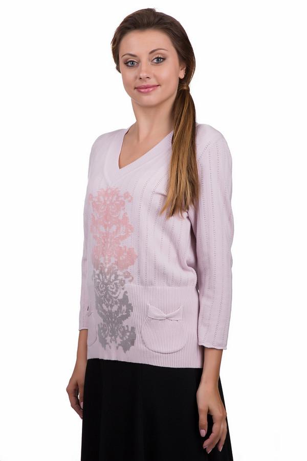 Пуловер Eugen KleinПуловеры<br>Стильный женский пуловер Eugen Klein розового цвета с серыми и бежевыми элементами. Это изделие было изготовлено из эластана, полиакрила и модала. Данная модель является демисезонной. Пуловер свободного кроя. Дополнен рисунком по центру и карманами по бокам. Прекрасно дополнит повседневный образ.<br><br>Размер RU: 54<br>Пол: Женский<br>Возраст: Взрослый<br>Материал: эластан 14%, полиакрил 40%, модал 46%<br>Цвет: Разноцветный