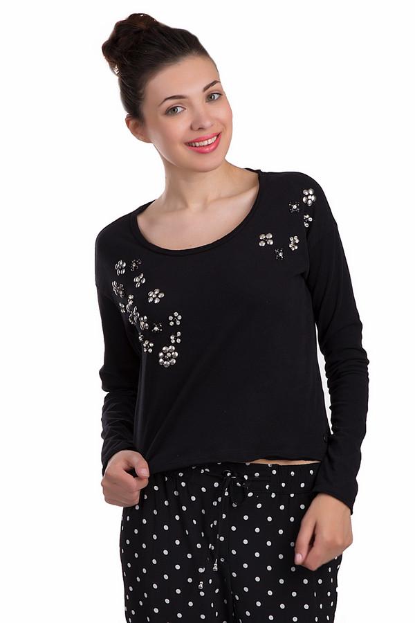 Пуловер Tom TailorПуловеры<br>Практичный женский пуловер Tom Tailor черного цвета. Данное изделие было выполнено из полиэстера. Эта модель предназначена для демисезонного периода. Штаны дополнены цветочным рисунком из стеклянных камней среднего размера. Пуловер немного укорочен. Это интересное решение для любого повседневного образа.<br><br>Размер RU: 40-42<br>Пол: Женский<br>Возраст: Взрослый<br>Материал: хлопок 100%<br>Цвет: Серебристый