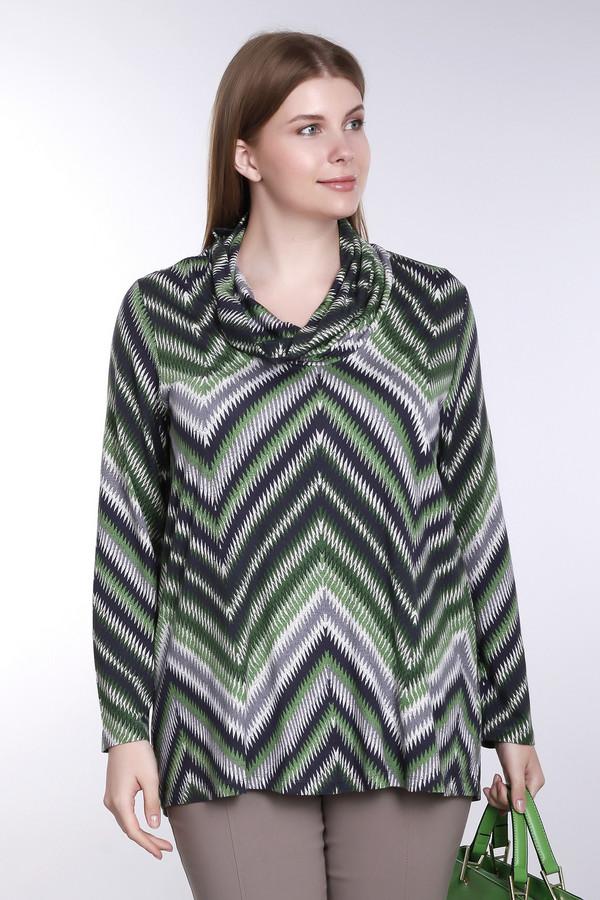 Блузa Via AppiaБлузы<br>Яркая женская блуза Via Appia серого, черного и зеленого цветов. Данное изделие было выполнено из хлопка и эластана. Эта модель предназначена для демисезонного периода. Она дополнена разноцветным орнаментом. Блуза свободного кроя. Такая блузка будет оригинальным и ярким акцентом в любом образе.<br><br>Размер RU: 50<br>Пол: Женский<br>Возраст: Взрослый<br>Материал: хлопок 95%, эластан 5%<br>Цвет: Разноцветный