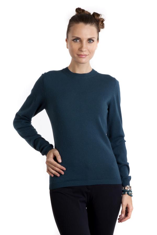 Пуловер PezzoПуловеры<br>Однотонный пуловер Pezzo приталенного кроя выполнен в темно-синем цвете. Изделие дополнено: круглым вырезом и длинными рукавами. Ворот, манжеты и нижний кант оформлены трикотажной резинкой. Несомненно займет достойное место в женском гардеробе.<br><br>Размер RU: 48<br>Пол: Женский<br>Возраст: Взрослый<br>Материал: вискоза 33%, хлопок 18%, полиамид 23%, шерсть 18%, кашемир 4%, ангора 4%<br>Цвет: Синий