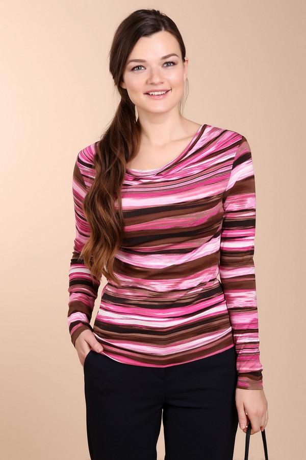 Лонгслив Betty BarclayЛонгсливы<br>Полосатый розово-коричневый лонгслив от бренда Betty Barclay прилегающего кроя выполнен из приятного вискозного материала с незначительным добавлением эластана. Изделие дополнено воротом-хомут и длинными рукавами.<br><br>Размер RU: 42<br>Пол: Женский<br>Возраст: Взрослый<br>Материал: эластан 5%, вискоза 95%<br>Цвет: Разноцветный