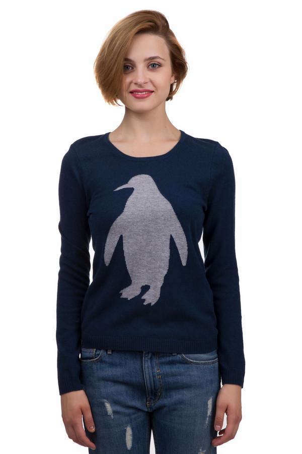 Пуловер Gerry WeberПуловеры<br>Оригинальный женский пуловер от бренда Gerry Weber синего и серого цветов. Это изделие было выполнено из шерсти, вискозы, кашемира и полиамида. Данная модель предназначена для демисезонного периода. Дополнена серым изображением пингвина на темно-синем фоне. Пуловер сидит по фигуре. Подчёркивает линию талии.<br><br>Размер RU: 48<br>Пол: Женский<br>Возраст: Взрослый<br>Материал: шерсть 30%, кашемир 5%, полиамид 30%, вискоза 35%<br>Цвет: Разноцветный