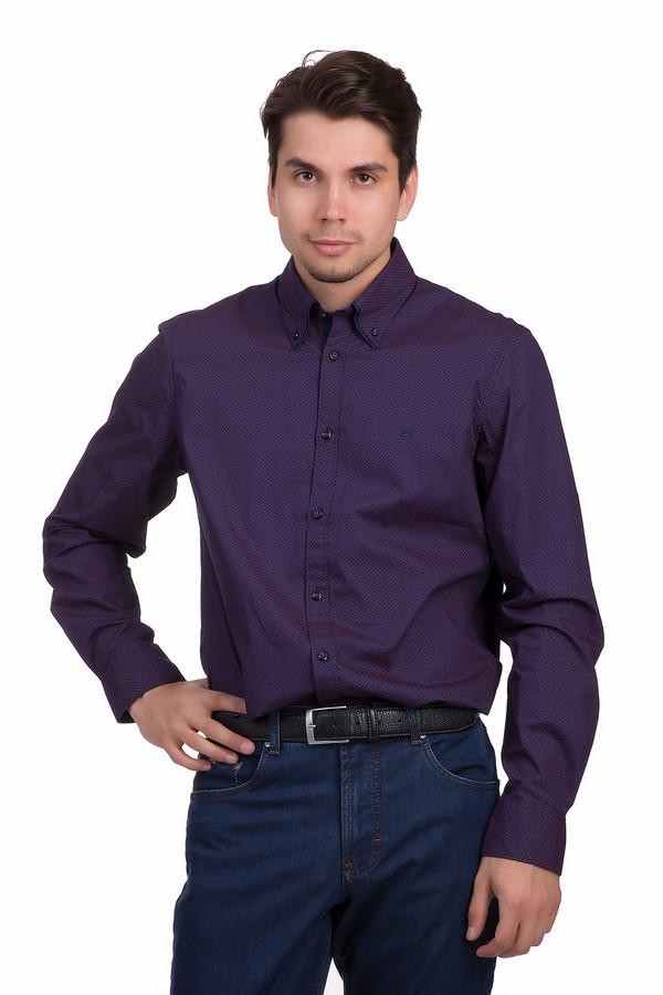 Рубашка с длинным рукавом LerrosДлинный рукав<br>Клетчатая мужская рубашка Lerros синего и бардового цветов. Это изделие было выполнено из натурального хлопка. Данная модель предназначена для демисезонного периода. У рубашки длинные рукава, два карманами на груди. Застегивается с помощью маленьких темно синих пуговиц. Отличный вариант для офиса.<br><br>Размер RU: 38<br>Пол: Мужской<br>Возраст: Взрослый<br>Материал: хлопок 100%<br>Цвет: Бордовый