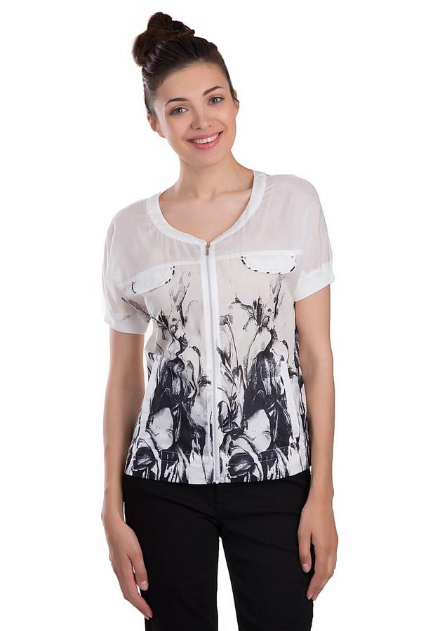 Блузa ApanageБлузы<br>Красивая женская блуза Apanage белого и черного цветов. Это изделие было выполнено из хлопка и шелка. Модель предназначена для того, чтобы носить летом. Она дополнена карманами по бокам и на груди. Украшена красивым черным изображением растительности на белом фоне. Рукава у блузы короткие.<br><br>Размер RU: 46<br>Пол: Женский<br>Возраст: Взрослый<br>Материал: хлопок 70%, шелк 30%<br>Цвет: Чёрный