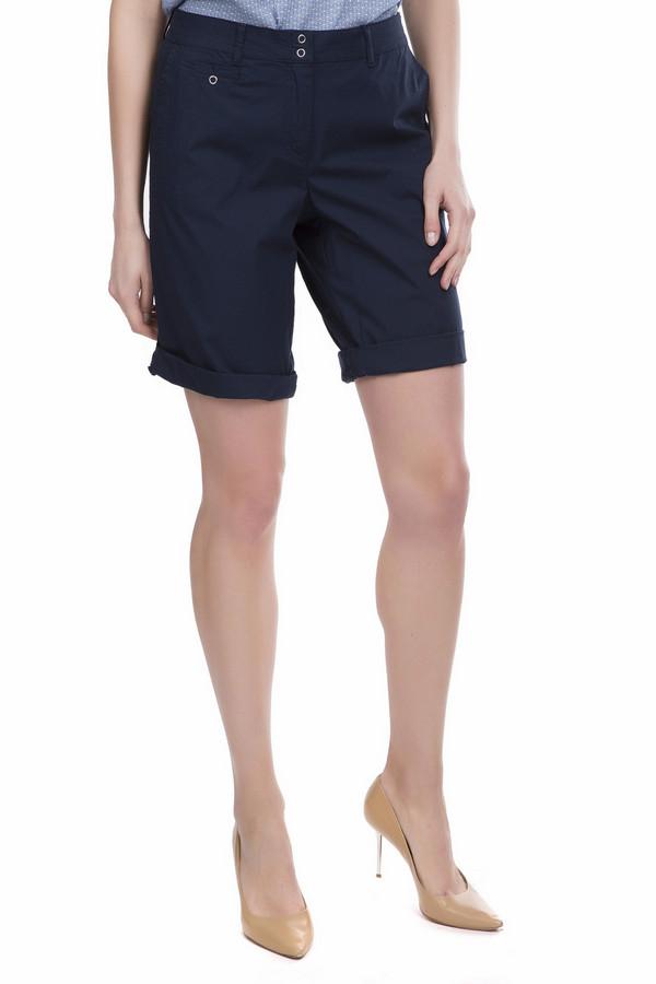Шорты SteilmannШорты<br>Практичные шорты Steilmann темного синего цвета. Это изделие было выполнено из эластана и хлопка. Данная модель предназначена для летнего сезона. Шорты средней длинны. Они дополнены шлевками для ремня, удобными боковыми и задними карманами. Практичное и в то же время стильное решение для летних поездок или прогулок.<br><br>Размер RU: 52<br>Пол: Женский<br>Возраст: Взрослый<br>Материал: эластан 3%, хлопок 97%<br>Цвет: Синий