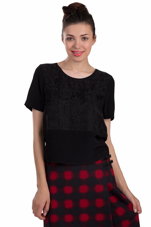 Блузa s.Oliver PREMIUMБлузы<br>Легкая женская блуза s.Oliver PREMIUM черного цвета. Эта модель была сделана из вискозы. Изделие предназначено для летнего сезона. Блуза свободного кроя. Дополнена резинкой снизу и вышитыми мелкими цветами в тон изделию. Она отлично сочетается с разноцветной и однотонной одеждой. Практичный и в то же время стильный вариант на каждый день.