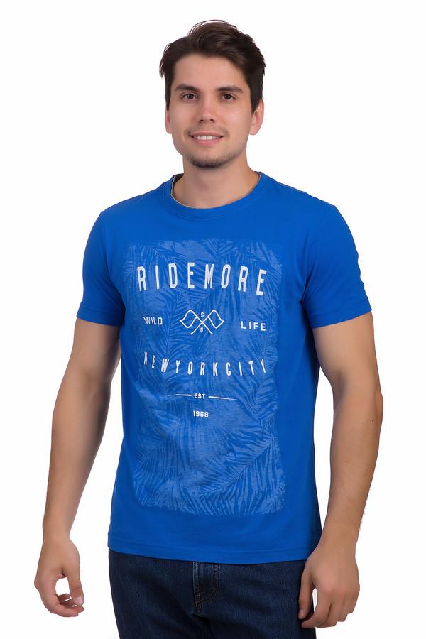 Футболкa s.OliverФутболки<br>Оригинальная синяя футболка для мужчин от немецкого бренда s.Oliver представлена в классическом крое из приятного к телу хлопкового материала. Изделие дополнено круглым воротом с контрастной оторочкой и короткими рукавами до середины плеча. Фронтальная часть оформлена тропическим рисунком голубого цвета и надписями.<br><br>Размер RU: 46-48<br>Пол: Мужской<br>Возраст: Взрослый<br>Материал: хлопок 100%<br>Цвет: Разноцветный