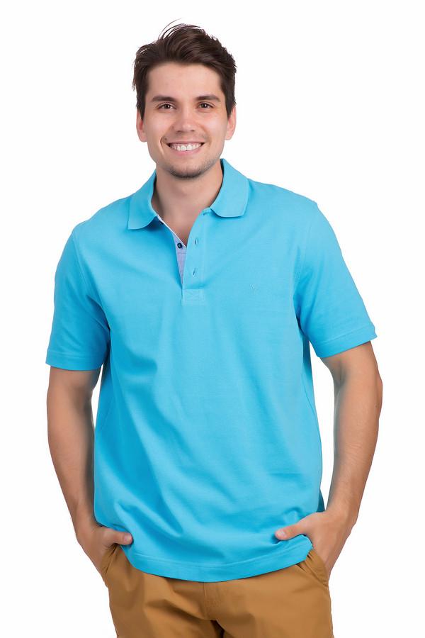 Поло MarvelisПоло<br>Яркое хлопковое поло для мужчин от бренда Marvelis представлена в голубом цвете. Изделие дополнено отложным воротником с планкой на пуговицах и короткими рукавами. Планка с внутренней стороны оформлена светло-голубой оторочкой. Поло выполнено из качественного материала приятного на ощупь. Хорошо будет сочетаться как с  брюками , так и с  шортами .<br><br>Размер RU: 46-48<br>Пол: Мужской<br>Возраст: Взрослый<br>Материал: хлопок 100%<br>Цвет: Голубой