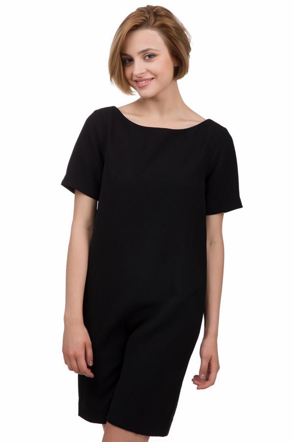 Платье Tom TailorПлатья<br>Классическое женского платье от бренда Tom Tailor черного цвета. Это изделие было выполнено из полиэстера. Модель является летней. Это платье средней длины, свободного кроя и с короткими рукавами. Оно дополнено застежкой на молнии сзади. Подобное платье является незаменимой базовой вещью в гардеробе. Оно подойдет для разных мероприятий.