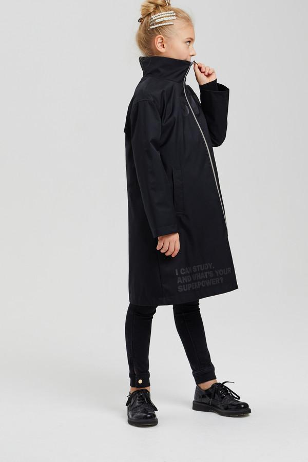 куртка silver spoon для девочки, черная