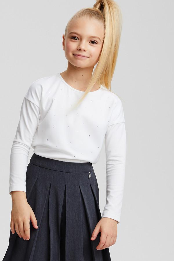 блузка silver spoon для девочки, белая