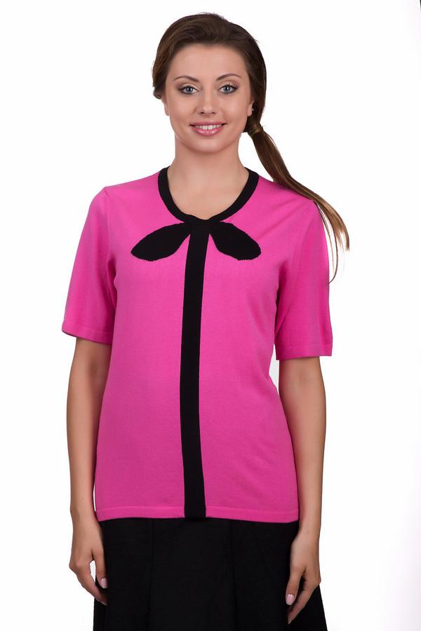 Пуловер Eugen KleinПуловеры<br>Яркий женский пуловер Eugen Klein розового цвета с черными элементами. Это изделие было выполнено из эластана, полиакрила и модала. Данная модель является демисезонной. Пуловер свободного кроя и с короткими рукавами. Дополнен черной полосой и бантом сверху. Сочетается с брюками и юбками. Придаст любому образу яркости и оригинальности.<br><br>Размер RU: 46<br>Пол: Женский<br>Возраст: Взрослый<br>Материал: эластан 14%, полиакрил 40%, модал 46%<br>Цвет: Чёрный