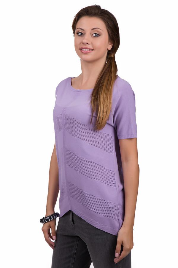 Джемпер Sai-KuДжемперы<br>Яркий женский джемпер Sai-Ku сиреневого цвета. Эта модель была сделана из вискозы и полиэстера. Данное изделие предназначено для летнего сезона. Джемпер свободного кроя и с короткими рукавами. Дополнен сетчатыми вставками. По бокам удлинен. Оригинальный вариант на каждый день. Лучше всего сочетать с однотонной одеждой.<br><br>Размер RU: 44-46<br>Пол: Женский<br>Возраст: Взрослый<br>Материал: вискоза 72%, полиэстер 28%<br>Цвет: Сиреневый