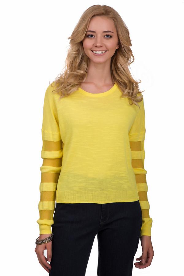Джемпер Sai-KuДжемперы<br>Яркий женский джемпер от бренда Sai-Ku солнечного желтого цвета. Это изделие было выполнено из вискозы, хлопка и полиэстера. Данная модель предназначена для демисезонного периода. Дополнена яркими зелеными вставками на рукавах и по бокам. Джемпер свободного кроя. Будет ярким акцентом в образе. Отлично подойдет для прогулок. Можно сочетать как с однотонными темными вещами, так и с яркой одеждой.<br><br>Размер RU: 48-50<br>Пол: Женский<br>Возраст: Взрослый<br>Материал: вискоза 60%, хлопок 38%, полиэстер 2%<br>Цвет: Жёлтый