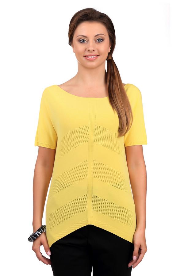 Джемпер Sai-KuДжемперы<br>Стильный женский джемпер от бренда Sai-Ku желтого цвета. Это изделие было изготовлено из вискозы и полиэстера. Данная модель предназначена для летнего сезона. Дополнена сетчатыми вставками. По бокам изделие длиннее. Джемпер свободного кроя. Рукава у него укороченные. Такая вещь станет ярким и оригинальным акцентом в образе.<br><br>Размер RU: 44-46<br>Пол: Женский<br>Возраст: Взрослый<br>Материал: вискоза 72%, полиэстер 28%<br>Цвет: Жёлтый