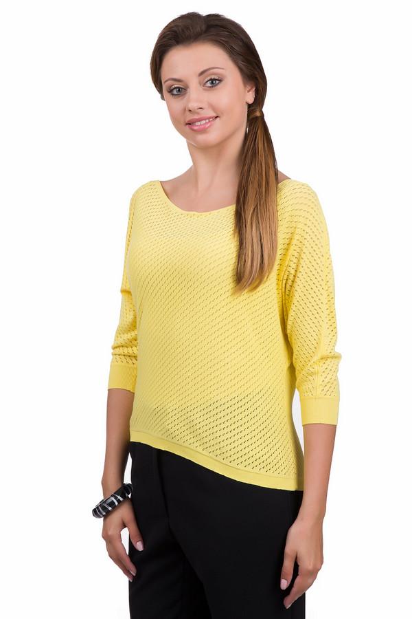 Джемпер Sai-KuДжемперы<br>Яркий женский джемпер от бренда Sai-Ku желтого цвета. Это изделие было выполнено из вискозы и полиэстера. Данная модель является демисезонной. Дополнена маленькими дырочками и резинками на рукавах и снизу. Джемпер свободного кроя с укороченными рукавами. Будет ярким акцентом в любом скучном образе.<br><br>Размер RU: 48-50<br>Пол: Женский<br>Возраст: Взрослый<br>Материал: вискоза 72%, полиэстер 28%<br>Цвет: Жёлтый