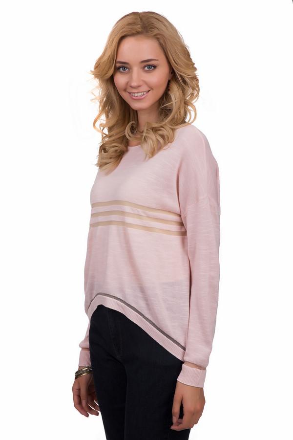 Джемпер Sai-KuДжемперы<br>Молодежный женский джемпер от бренда Sai-Ku нежно-розового цвета. Эта модель была сделана из вискозы, полиэстера и хлопка. Данное изделие предназначено для демисезона. Дополнено прозрачными горизонтальными вставками на груди и рукавах. Джемпер свободного кроя. Спинка длиннее передней части. Станет ярким и оригинальным акцентом в образе.<br><br>Размер RU: 48-50<br>Пол: Женский<br>Возраст: Взрослый<br>Материал: вискоза 60%, хлопок 38%, полиэстер 2%<br>Цвет: Розовый