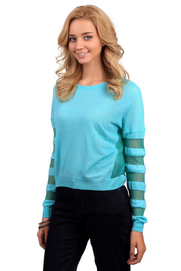 Джемпер Sai-KuДжемперы<br>Яркий женский джемпер от бренда Sai-Ku голубого цвета. Это изделие было выполнено из вискозы, хлопка и полиэстера. Данная модель предназначена для демисезонного периода. Дополнена яркими зелеными вставками на рукавах и по бокам. Джемпер свободного кроя. Будет ярким акцентом в образе. Отлично подойдет для прогулок. Можно сочетать как с однотонными темными вещами, так и с яркой одеждой.<br><br>Размер RU: 48-50<br>Пол: Женский<br>Возраст: Взрослый<br>Материал: вискоза 60%, хлопок 38%, полиэстер 2%<br>Цвет: Зелёный