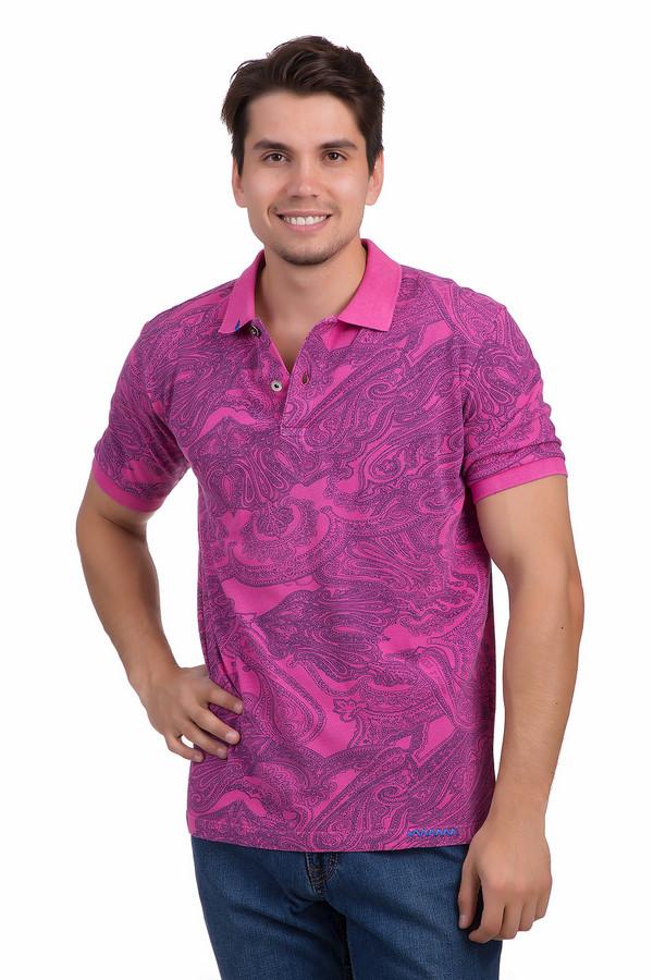 Поло Flavio NavaПоло<br>Яркое и стильное поло для мужчин от бренда Flavio Nava прямого кроя выполнено из натурального 100% хлопка розового цвета. Изделие дополнено отложным воротником с планкой на пуговицах и короткими рукавами до середины плеча. Поло оформлено восточным узором пейсли контрастного темно-синего цвета и идеально подойдет для летнего сезона.<br><br>Размер RU: 56<br>Пол: Мужской<br>Возраст: Взрослый<br>Материал: хлопок 100%<br>Цвет: Синий