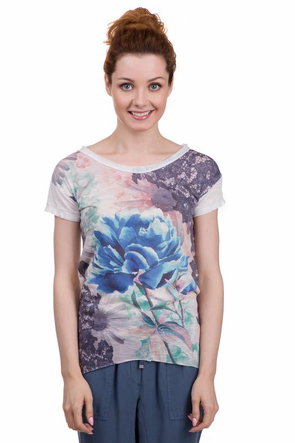 Футболка Sai-KuФутболки<br>Интересная женская футболка от бренда Sai-Ku белого, серого, бежевого, зелёного и синего цветов. Это изделие было выполнено из полиэстера. Данная модель предназначена для летнего сезона. Дополнена ярким и разноцветным рисунком. Изделие сидит по фигуре. Отлично сочетается с одеждой разных цветов и стилей. Хорошо смотрится как с юбками, так и с брюками.<br><br>Размер RU: 44<br>Пол: Женский<br>Возраст: Взрослый<br>Материал: полиэстер 100%<br>Цвет: Разноцветный