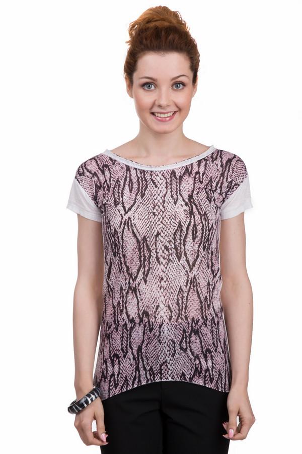 Футболка Sai-KuФутболки<br>Оригинальная женская футболка от бренда Sai-Ku белого, чёрного и розового цветов. Это изделие было выполнено из полиэстера. Данная модель предназначена для летнего сезона. Дополнена спереди разноцветным рисунком, имитирующим змею. Спинка изделия полностью белая. Боковые части более длинные, чем передняя и задняя.<br><br>Размер RU: 48<br>Пол: Женский<br>Возраст: Взрослый<br>Материал: полиэстер 100%<br>Цвет: Разноцветный