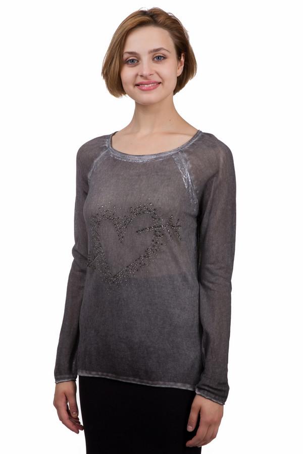 Пуловер MonariПуловеры<br>Модный женский пуловер от бренда Monari серого цвета. Это изделие было выполнено из вискозы. Данная модель предназначена для демисезонного периода. Дополнена серебристыми вставками и рисунком большого сердца из серебристых камней. Пуловер свободного кроя и с длинными рукавами. Можно носить как с темными, так и с яркими вещами.<br><br>Размер RU: 50<br>Пол: Женский<br>Возраст: Взрослый<br>Материал: вискоза 100%<br>Цвет: Серый