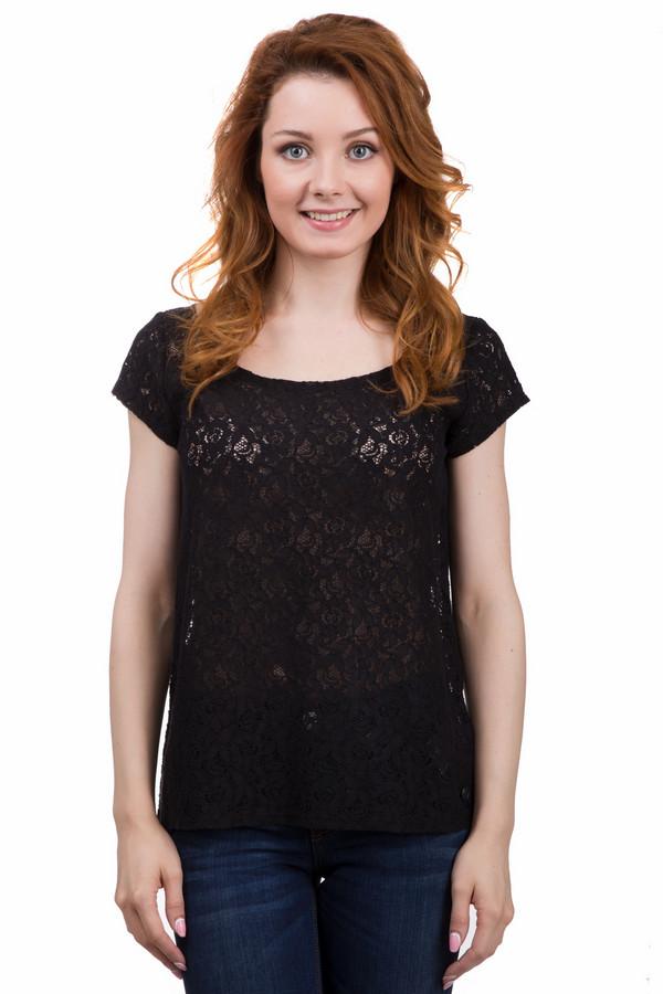 Футболка Tom TailorФутболки<br>Женственная футболка от бренда Tom Tailor черного цвета. Это изделие было выполнено из полиэстера и хлопка. Данная модель предназначена для летнего сезона. Дополнена кружевными вставками. Футболка свободного кроя. Хорошо сочетается с одеждой разных цветов. Отличный вариант как для повседневного образа, так и вечернего.<br><br>Размер RU: 44-46<br>Пол: Женский<br>Возраст: Взрослый<br>Материал: полиэстер 13%, хлопок 87%<br>Цвет: Чёрный