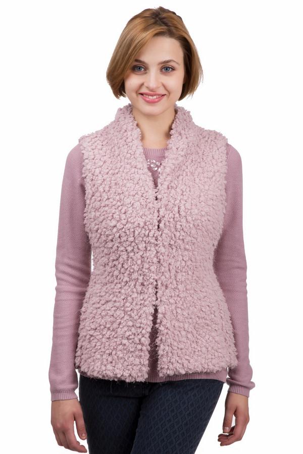 Жилет ApanageЖилеты<br>Оригинальный женский жилет от бренда Apanage розового цвета. Это изделие было выполнено из полиэстера. Данная модель предназначена для демисезонного периода. Дополнена мехом. Не застегивается, может запахиваться с помощью ремешка. Согреет в прохладную погоду. При этом, будет ярким акцентом в любом образе.<br><br>Размер RU: 44<br>Пол: Женский<br>Возраст: Взрослый<br>Материал: полиэстер 100%<br>Цвет: Розовый