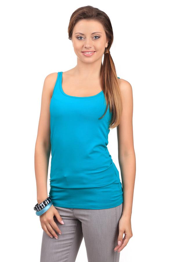 Топ TaifunТопы<br>Яркий женский топ от бренда Taifun голубого цвета. Это изделие было выполнено из эластана, хлопка и модала. Данная модель предназначена для летнего сезона. Топ сидит по фигуре. Подчеркивает линию талии. Будет отличным ярким акцентом в летнем образе. Хорошо смотрится как с юбками, так и шортами или штанами. Сочетается с одеждой разных цветов.<br><br>Размер RU: 42<br>Пол: Женский<br>Возраст: Взрослый<br>Материал: эластан 5%, хлопок 48%, модал 47%<br>Цвет: Голубой