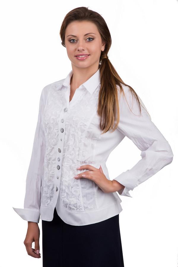 Блузa SE StenauБлузы<br>Элегантная женская блуза SE Stenau белого цвета. Это изделие было изготовлено из хлопка и полиэстера. Данная модель предназначена для демисезонного периода. Блуза свободного кроя и с укороченными рукавами. Дополнена вышитым узором. Застегивается на крупные серебристые пуговицы. Лучше всего сочетается с юбками.<br><br>Размер RU: 50<br>Пол: Женский<br>Возраст: Взрослый<br>Материал: хлопок 35%, полиэстер 65%<br>Цвет: Белый
