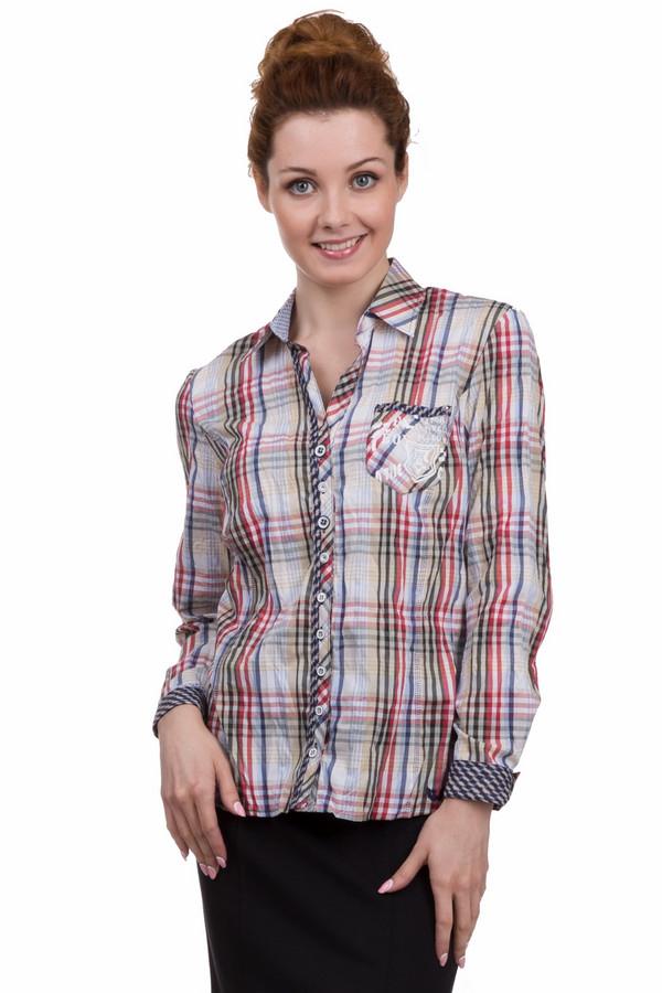 Блузa SE StenauБлузы<br>Клетчатая женская блуза от бренда SE Stenau белого, чёрного, бежевого, зелёного, голубого и синего цветов. Это изделие было выполнено из хлопка и полиэстера. Данная модель предназначена для демисезонного периода. Дополнена карманом на груди, маленькой нашивкой, манжетами на рукавах. Застегивается с помощью маленьких серых пуговиц. Отличный вариант для повседневного образа.<br><br>Размер RU: 40<br>Пол: Женский<br>Возраст: Взрослый<br>Материал: хлопок 35%, полиэстер 65%<br>Цвет: Разноцветный
