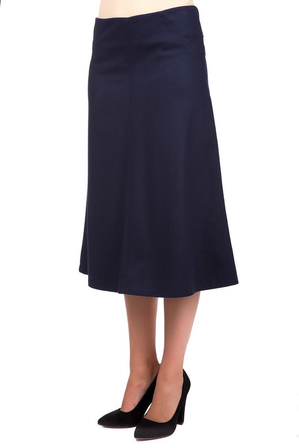 Юбка GardeurЮбки<br>Модная женская юбка Gardeur синего цвета. Эта модель была сделана из шерсти и полиамида. Изделие предназначено для демисезона. Юбка средней длины. Расширяется к низу. Не облегает фигуру. Дополнена аккуратной застежкой сзади и вертикальными строчками. Лучше всего сочетается с обувью на каблуке. Можно носить с джемперами и блузами.<br><br>Размер RU: 46<br>Пол: Женский<br>Возраст: Взрослый<br>Материал: шерсть 70%, полиамид 30%<br>Цвет: Синий