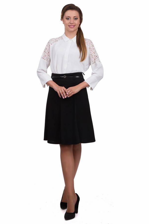 Юбка SteilmannЮбки<br>Элегантная женская юбка Steilmann черного цвета. Это изделие было выполнено из эластана, вискозы и полиэстера. Данная модель предназначена для демисезонного периода. Юбка выполнена в форме полу солнца, средней длины. Дополнена тонким ремешком. Отличный вариант для похода на работу. В сочетании с яркими аксессуарами, можно надевать на праздники.<br><br>Размер RU: 46<br>Пол: Женский<br>Возраст: Взрослый<br>Материал: эластан 2%, вискоза 27%, полиэстер 71%<br>Цвет: Чёрный