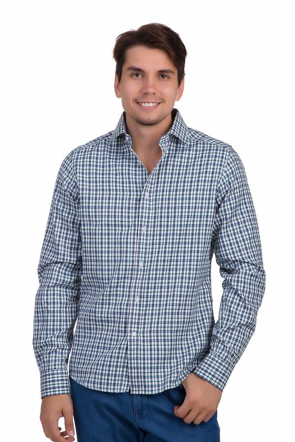 Рубашка с длинным рукавом PezzoДлинный рукав<br>Модная мужская рубашка от бренда Pezzo приталенного кроя выполнена из плотного материала белого цвета в сине-зеленую клетку. Изделие дополнено отложным воротником и длинными рукавами с манжетами на пуговицах. Центральная часть застегивается на планку с пуговицами. Рубашка незаменима в гардеробе мужчины и хорошо будет смотреться как с   джинсами  , так и с   брюками  .<br><br>Размер RU: 45<br>Пол: Мужской<br>Возраст: Взрослый<br>Материал: хлопок 35%, полиэстер 65%<br>Цвет: Разноцветный