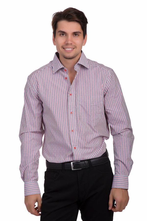 Рубашка с длинным рукавом Just ValeriДлинный рукав<br>Классическая мужская рубашка от бренда Just Valeri прямого кроя выполнена из плотной хлопковой ткани белого цвета в красную и темно-синию полоску. Изделие дополнено отложным воротником и длинными рукавами. Манжеты застегиваются на пуговицы. В центральной части рубашки расположена планка с пуговицами яркого красного цвета с названием бренда.<br><br>Размер RU: 39<br>Пол: Мужской<br>Возраст: Взрослый<br>Материал: хлопок 100%<br>Цвет: Разноцветный