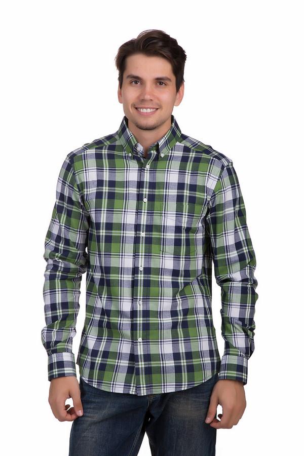 Рубашка с длинным рукавом PezzoДлинный рукав<br>Стильная клетчатая рубашка от бренда Pezzo прямого кроя. Изделие дополнено: отложным классическим воротником, длинными рукавами с манжетами на пуговицах и накладным нагрудным карманом. Центральная часть застегивается на пуговицы. Рубашка оформлена принтом в сине-бело-зеленую клетку. Прекрасно будет сочетаться с  джинсами  на выпуск или в заправленном виде.<br><br>Размер RU: 39<br>Пол: Мужской<br>Возраст: Взрослый<br>Материал: хлопок 100%<br>Цвет: Разноцветный