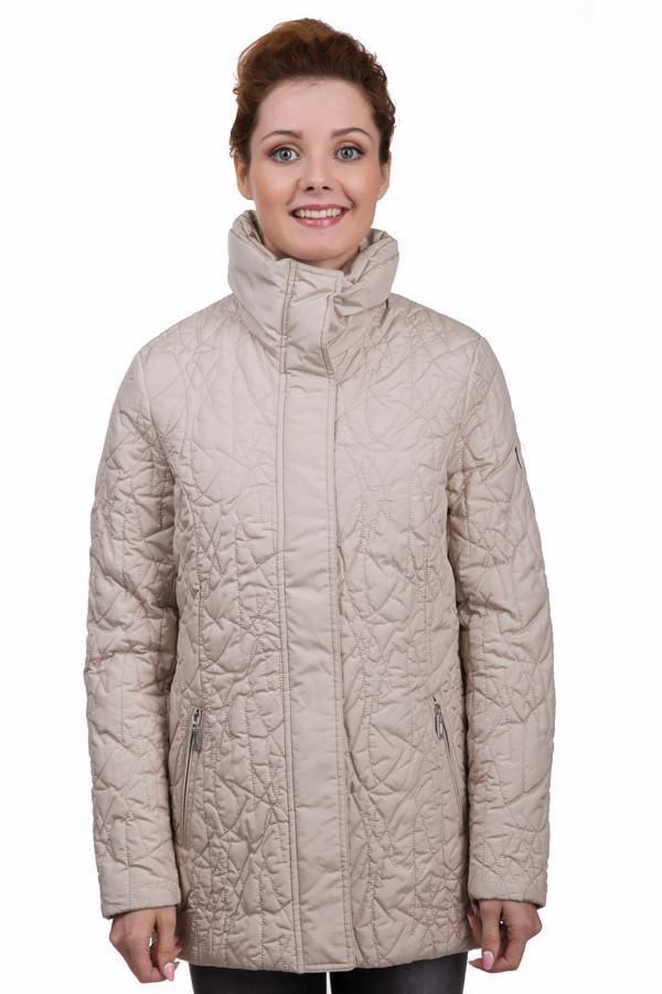 Куртка PezzoКуртки<br>Практичная женская куртка от бренда Pezzo бежевого цвета. Эта модель была сделана из полиэстера и нейлона. Данное изделие предназначено для демисезонного периода. Дополнено боковыми карманами. Застегивается на молнию и кнопки. Куртка средней длинны, свободного кроя. Сочетается с одеждой разных цветов и оттенков.<br><br>Размер RU: 42<br>Пол: Женский<br>Возраст: Взрослый<br>Материал: полиэстер 91%, нейлон 9%<br>Цвет: Бежевый