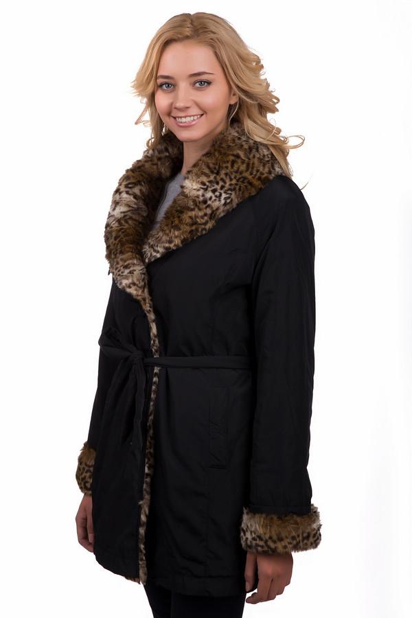 Пальто PezzoПальто<br>Модное женское пальто Pezzo чёрного цвета с бежевыми и коричневыми элементами. Это изделие было изготовлено из полиэстера. Данная модель предназначена для холодной зимней погоды. Пальто средней длины. Дополнено боковыми карманами, объемным разноцветным мехом и тонким пояском на талии. Застегивается с помощью молнии и пуговиц.<br><br>Размер RU: 48<br>Пол: Женский<br>Возраст: Взрослый<br>Материал: полиэстер 100%<br>Цвет: Разноцветный