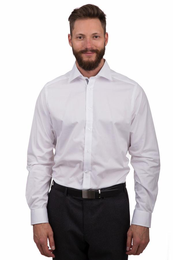 Рубашка с длинным рукавом Just ValeriДлинный рукав<br>Классическая мужская рубашка от бренда Just Valeri белого цвета. Эта модель была выполнена из полиэстера и хлопка. Модель предназначена для демисезонного периода. Дополнена манжетами на рукавах. Застегивается с помощью маленьких белых пуговиц. Отлично подойдут как для похода на работу, так и просто на прогулку. Сочетаются как с классическими брюками, так и с джинсами.<br><br>Размер RU: 41<br>Пол: Мужской<br>Возраст: Взрослый<br>Материал: полиэстер 30%, хлопок 70%<br>Цвет: Белый