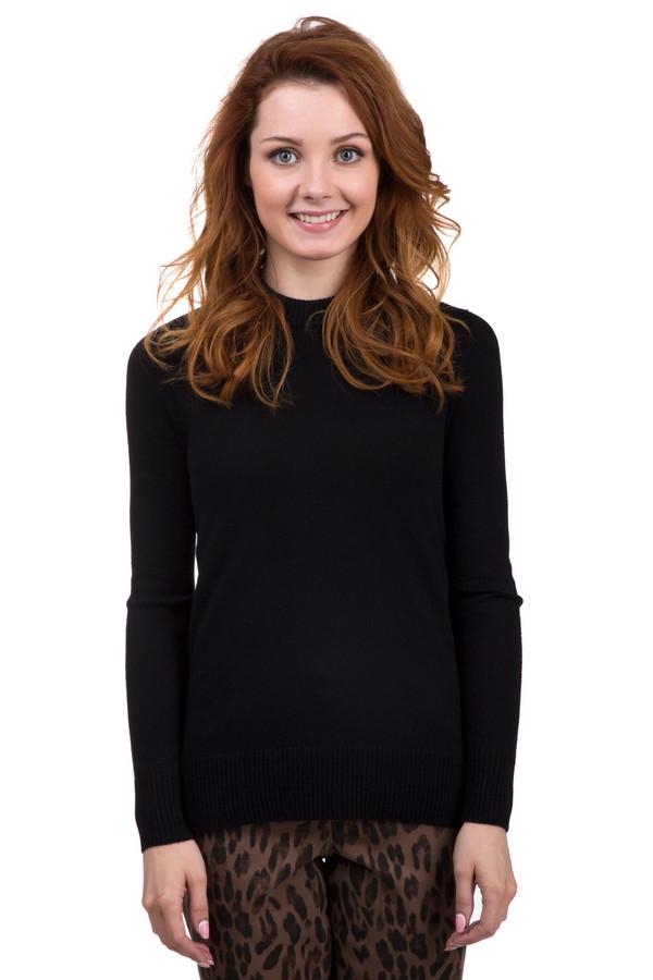 Пуловер Just ValeriПуловеры<br>Черный женский пуловер от бренда Just Valeri прямого кроя выполнен из приятного и мягкого трикотажа состоящего на 100% из кашемира. Изделие дополнено воротником-стойка, удлиненной спинкой и длинными рукавами. Спинка оформлена v-образным вырезом с завязкой-ленточка. По бокам расположены небольшие разрезы.<br><br>Размер RU: 52<br>Пол: Женский<br>Возраст: Взрослый<br>Материал: кашемир 100%<br>Цвет: Чёрный