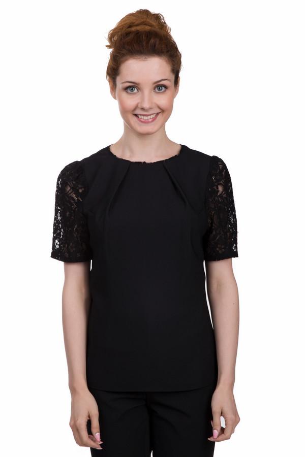 Блузa PezzoБлузы<br>Стильная женская блуза от бренда Pezzo чёрного цвета. Эта модель была сделана из полиэстера. Данное изделие предназначено для летнего сезона. Блуза свободного кроя. Рукава укороченные. Дополнены кружевными вставками. Хорошо смотрится не только с юбками, но и с брюками или темными шортами.<br><br>Размер RU: 44<br>Пол: Женский<br>Возраст: Взрослый<br>Материал: полиэстер 100%<br>Цвет: Чёрный
