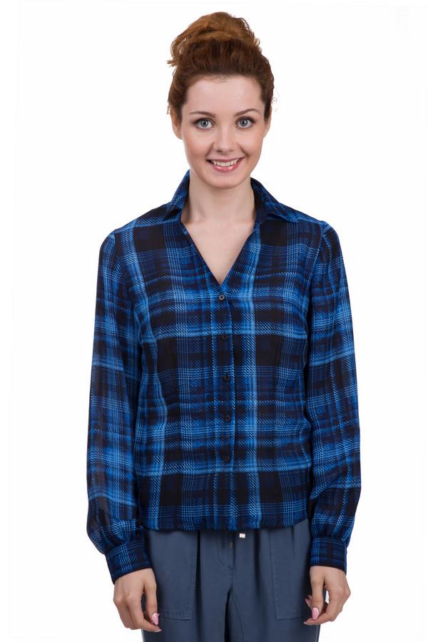 Блузa PezzoБлузы<br>Оригинальная женская блуза от бренда Pezzo чёрного и синего цветов. Это изделие было выполнено из полиэстера. Данная модель предназначена для демисезонного периода. Дополнена крупным клетчатым рисунком и манжетами на рукавах. Блуза свободного кроя с длинными рукавами. Будет ярким акцентом в образе. Лучше всего сочетается с темными синими вещами.<br><br>Размер RU: 42<br>Пол: Женский<br>Возраст: Взрослый<br>Материал: полиэстер 100%<br>Цвет: Синий