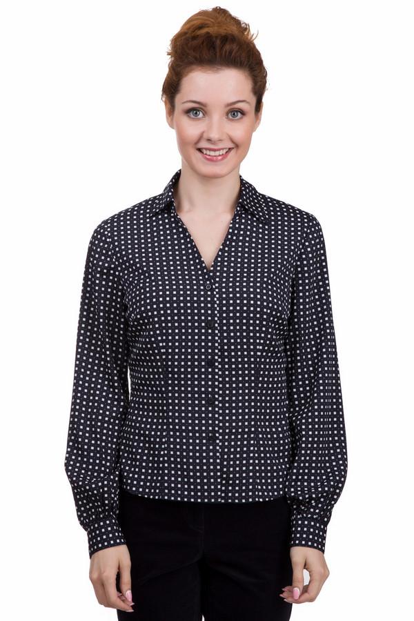 Блузa PezzoБлузы<br>Оригинальная женская блуза от бренда Pezzo чёрного и белого цветов. Это изделие было выполнено из полиэстера. Данная модель предназначена для демисезонного периода. Дополнена манжетами на рукавах и точечным рисунком. Застегивается на маленькие черные пуговицы. Блуза свободного кроя. Сочетается как с юбками, так и с брюками или джинсами.<br><br>Размер RU: 42<br>Пол: Женский<br>Возраст: Взрослый<br>Материал: полиэстер 100%<br>Цвет: Белый